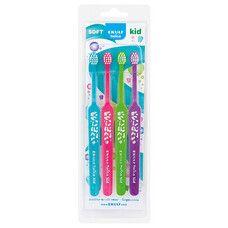 Набір зубних щіток EKULF Twice Kid (4 шт) - Фото