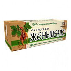 Экстракт корня женьшеня 0.25 г № 80