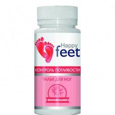 Тальк для ног контроль потливости ТМ Хэппи Фит / Happy Feet можжевельник 50 г