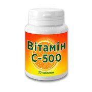Вітамін С-500 таблетки 0,5 г №30  - Фото