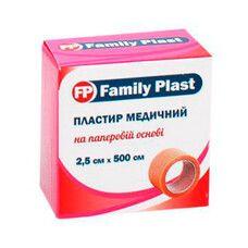 Пластырь медицинский FP Family Plast на нетканой основе в катушке 2,5см х 500см