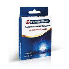Пластырь бактерицидный на тканевой основе FP Family Plast 25х72мм №20