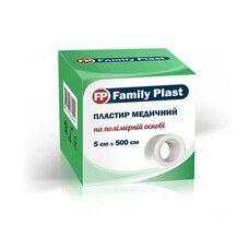 Пластир медичний FP Family Plast на полімерній основі 5см х 500см - Фото