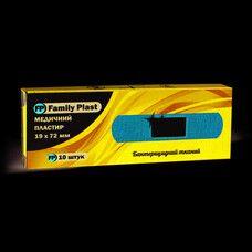 Пластырь бактерицидный на тканевой основе FP Family Plast 19х72мм №10
