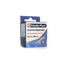 Пластырь медицинский FP Family Plast на тканевой основе 2,5 см х 500 см в катушке с подвесом