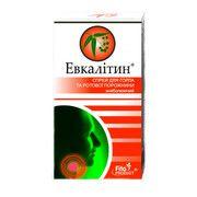 Евкалітін знеболюючий спрей для горла і ротової порожнини 30 мл - Фото