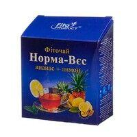 Фиточай № 4 Норма-Вес ананас и лимон 1,5г №20 - Фото