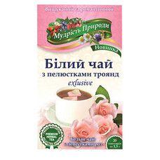 """Белый чай с лепестками роз """"Мудрость природы"""" в пакетиках 20*1,5 г - Фото"""