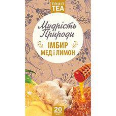 """Імбир, Мед і лимон """"Поліський чай"""" в пакетиках 20 * 2 г - Фото"""