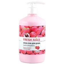 Fresh Juice крем-гель для душу Лічі і Малина 750 мл  - Фото