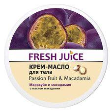 Fresh Juice крем-олія для тіла Маракуйя і Макадамія 225 мл  - Фото