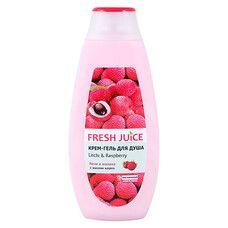 Fresh Juice крем-гель для душу Лічі і Малина 400 мл  - Фото