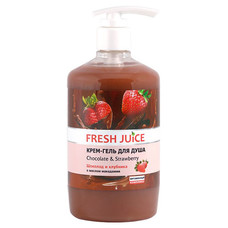 Fresh Juice крем-гель для душу Шоколад і Полуниця 750 мл  - Фото