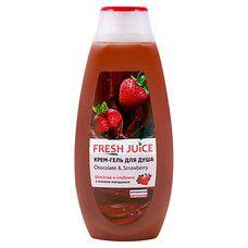 Fresh Juice крем-гель для душу Шоколад і Полуниця 400 мл - Фото