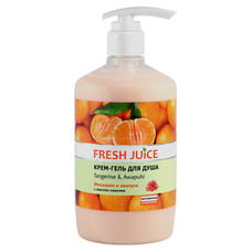 Fresh Juice крем-гель для душу Мандарин і Авапухі 750 мл  - Фото