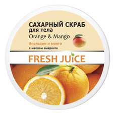 Fresh Juice сахарный скраб для тела Апельсин и Манго 225 мл