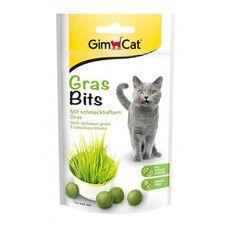 GrasBits витаминизированные таблетки GimCat с травой для кошек 40 г/65 шт - Фото