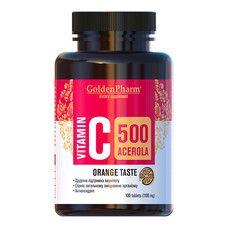 Витамин С с Ацеролой апельсин таблетки 500мг №100 - Фото