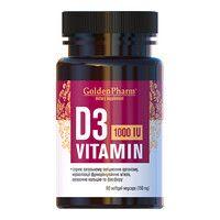 Витамин D3 1000 МЕ 150 мг капсулы №90