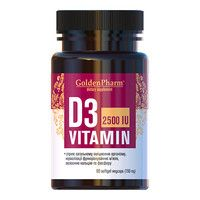 Витамин D3 2500 МЕ 150 мг капсулы №90 - Фото