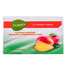 Гамма травяные леденцы от кашля и раздражения в горле манго №24