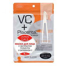 Маска для лица ТМ Джепен Гелс / Japan Gals Плацента и Витамин С №7