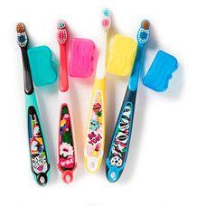Дитяча зубна щітка (м'яка) з ковпачком для подорожей Jordan Step2 від 6 до 9 років - Фото