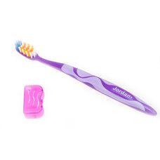 Зубна щітка середньої жорсткості з ковпачком для подорожей Jordan Advanced - Фото