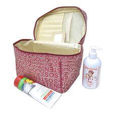 Косметичка чемодан с буквами размер 23х18х18