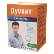 Дуовит для мужчин таблетки №30