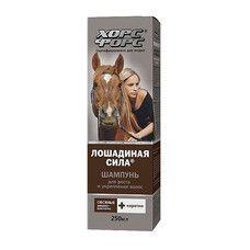 Лошадиная сила шампунь для роста и укрепления волос с кератином на основе овсяных ПАВ 250 мл