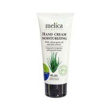 Крем для рук увлажняющий ТМ Мелиса Органик / Melica Organic с маслом зародышей пшеницы и экстрактом алоє 100 мл
