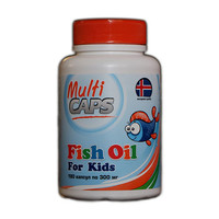 Рыбий жир из печени трески детский ТМ Мультикапс/Multicaps 300 мг №180