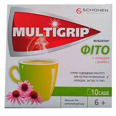 Мультигрипп® Фито с эхинацеей и витамином С порошок в саше №10