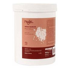 Порошок білої глини для сухої чутливої шкіри Najel 500 г - Фото