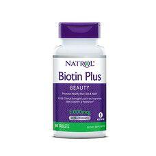 Біотин Плюс (Biotin Plus) 5000 мкг ТМ Natrol / Натрол 60 таблеток - Фото