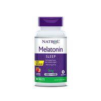 Мелатонін (Melatonin) Полуниця 5 мг F/D ТМ Natrol / Натрол 90 таблеток