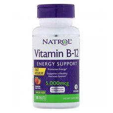 Vitamin B-12 5000mcg F/D Straw ТМ Natrol / Натрол  №100 - Фото