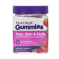 Hair Skin & Nails ТМ Natrol / Натрол 90 мармеладних таблеток - Фото