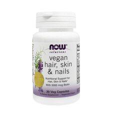Вітаміни Hair, Skin & Nails (Шкіра, Волосся і Нігті) Vegan ТМ Нау Фудс / Now Foods №30 (19113381) - Фото