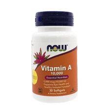 Вітамін А (Vitamin A) 10 000 IU ТМ Нау Фудс / Now Foods №30 (19110330) - Фото