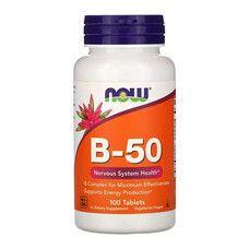 B-Комплекс 50 B-50 Now Foods 100 таблеток - Фото