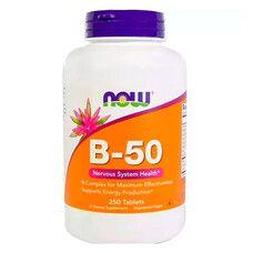 B-Комплекс 50 B-50 Now Foods 250 таблеток - Фото