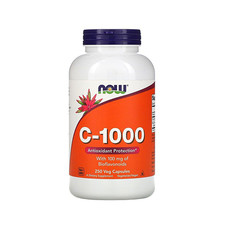 Вітамін C -1000 + 100 мг біофлавоноїдів (Vitamin C + Bioflavonoids) ТМ Нау Фудс / Now Foods 250 капсул - Фото