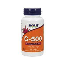Вітамін C-500 з шипшиною (With Rose Hips) ТМ Нау Фудс / Now Foods 100 таблеток - Фото