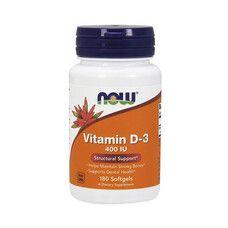 Витамин D3 (Vitamin D-3) 400 МЕ ТМ Нау Фудс / Now Foods 180 желатиновых капсул - Фото