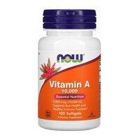 Вітамін А (Vitamin A) 10 000 IU ТМ Нау Фудс / Now Foods 100 желатинових капсул