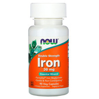 Железо Now Foods Double Strength Iron гелевые капсулы 36мг №90