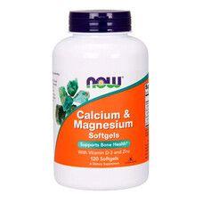 Кальций & Магний + Витамин D Now Foods желатиновые капсулы №120  - Фото