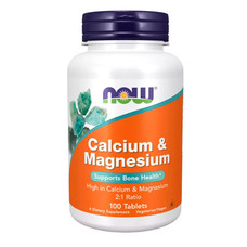 Кальций и магний Calcium & Magnesium 2:1 Ratio Now Foods таблетки №100  - Фото